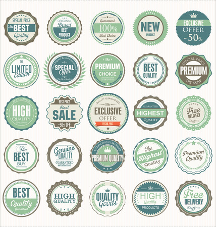best quality: Premium, quality retro vintage labels collection