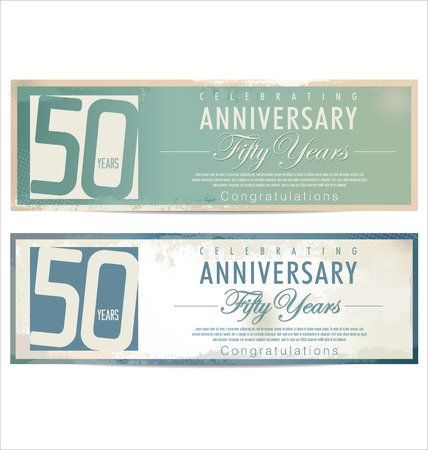50 years: Anniversary retro background, 50 years