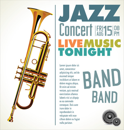 live band: jazz retro poster Illustration