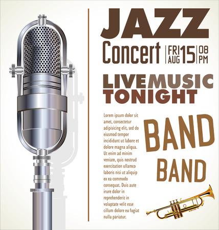 jazz retro poster Illustration