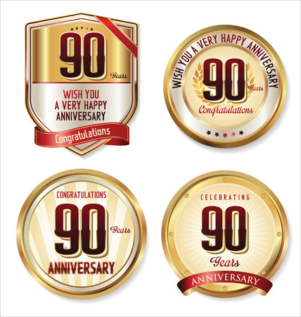 90: Anniversary golden labels collection