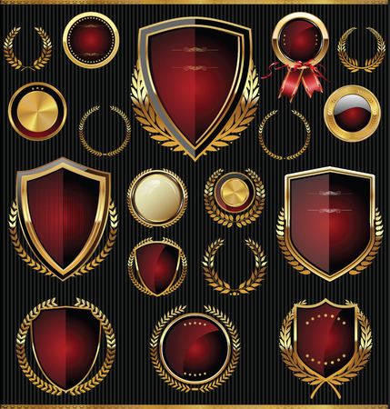 Golden shields, laurels and medals collection
