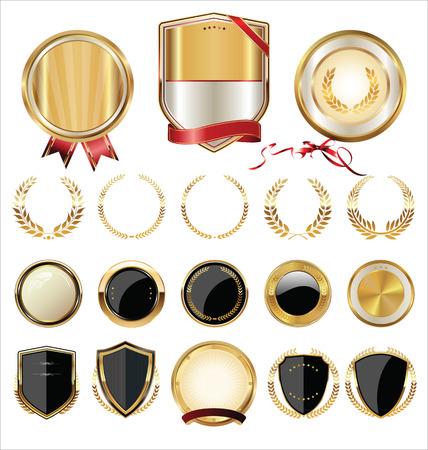 letras de oro: Colección escudos, laureles y medallas de oro