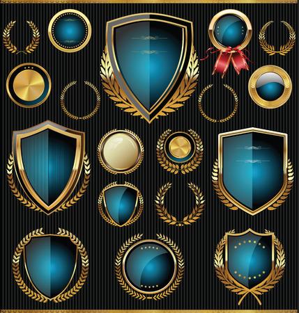 insignias: Colecci�n escudos, laureles y medallas de oro