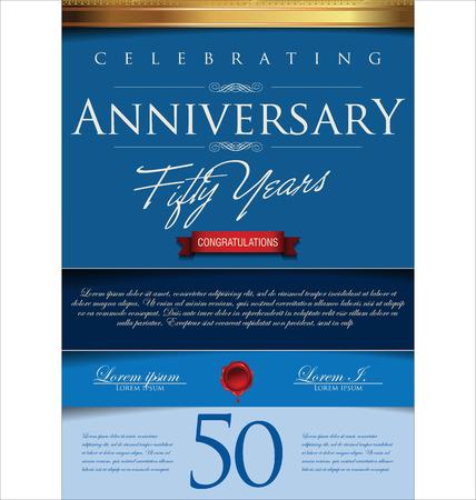 anniversaire: Anniversaire rétro fond, 50 années