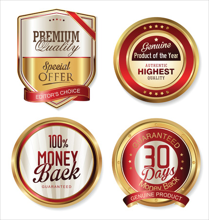 premium quality: Premium quality golden labels
