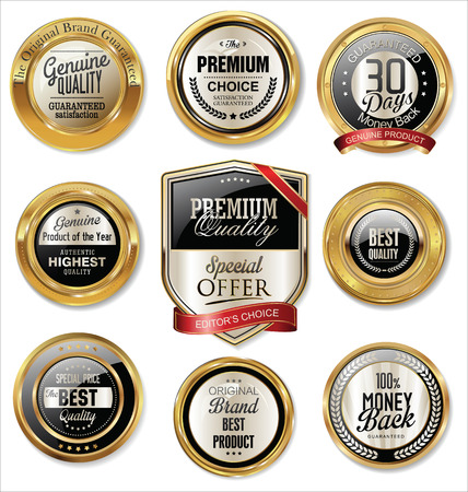 promotion: Premium quality golden labels