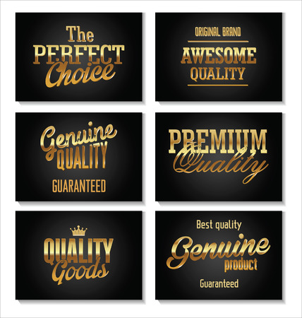 Premium quality gold and black banner Vector