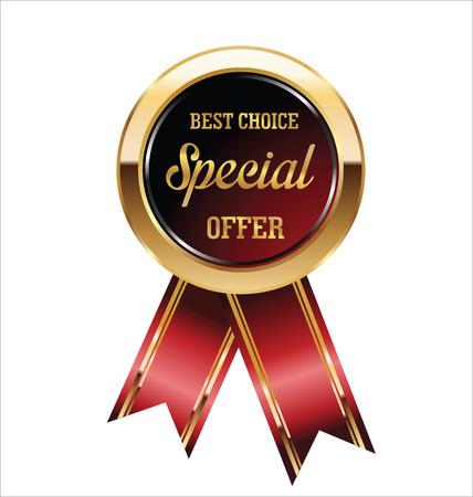 offerta speciale: Contrassegno di offerta speciale Vettoriali