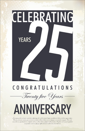 25: Anniverasary background, 25 years