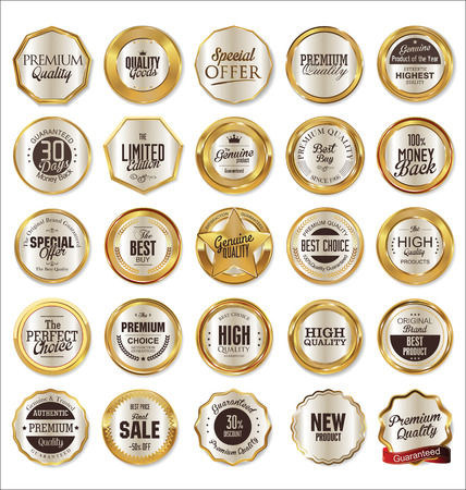 radial background: Golden labels collection