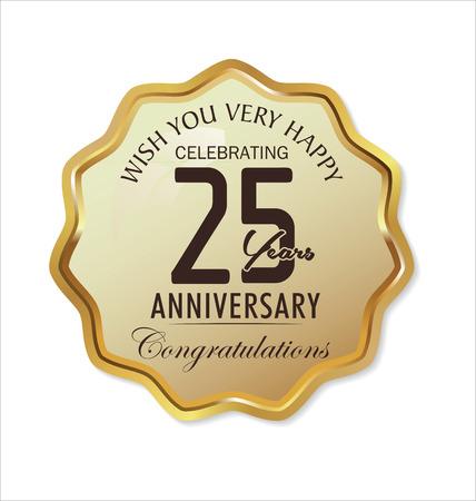 Anniversary label, 25 years