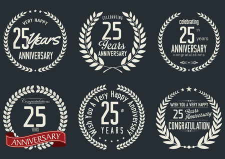 25: Anniversary label collection, 25 years Illustration