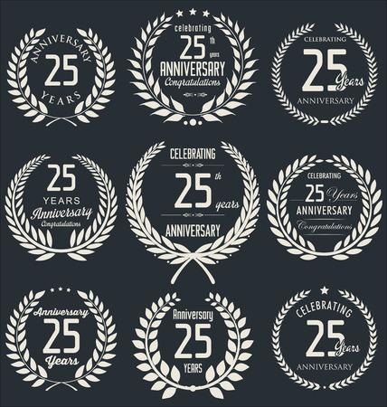 25: Anniversary laurel wreath design, 25 years Illustration