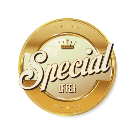 Special offer golden sign