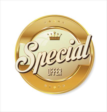 Special offer golden sign