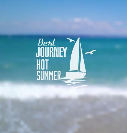hot summer: Verano caliente fondo borroso