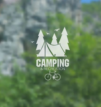 camps: Camping blurred vector background