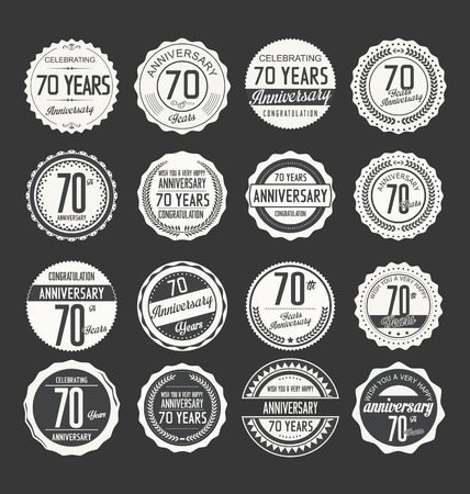 70: Anniversary label collection 70 years
