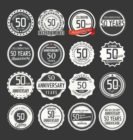 50 years jubilee: Anniversary label collection