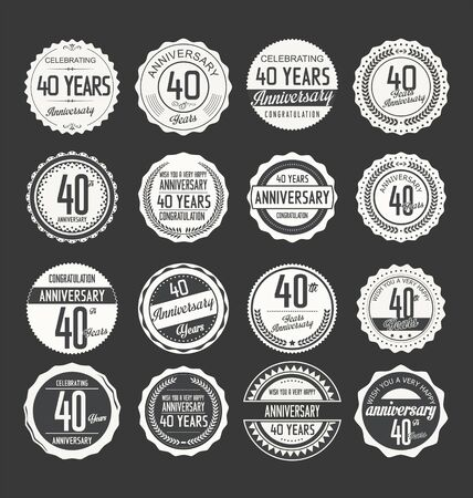 40: Anniversary label collection