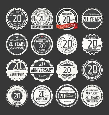 felicitaciones: Colecci�n de etiquetas Aniversario