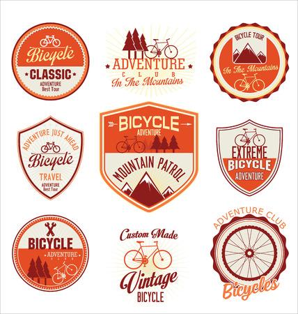retro badge: Bicycle retro vintage badge collection