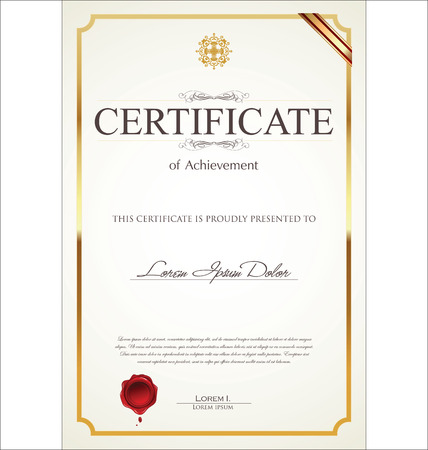 Certificaat of diploma template