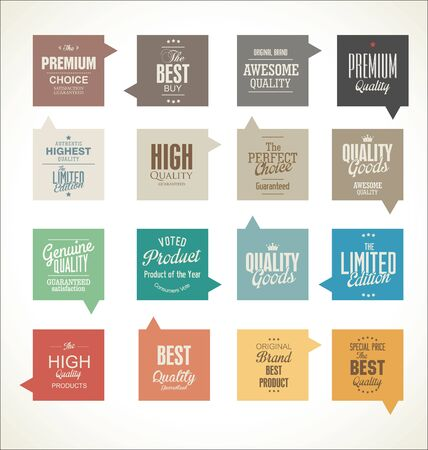 best quality: Modern badges collection Illustration