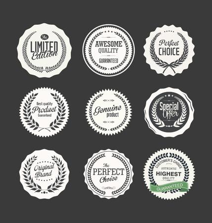 badge vector: Premium quality badge collection