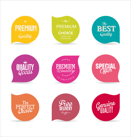 etiqueta: Modernos etiquetas de diseño Vectores