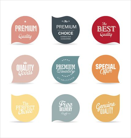 vector web design elements: Modern design labels