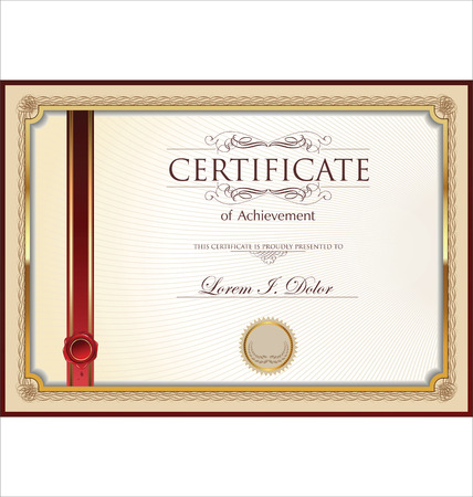 degrees: Certificate or Diploma template