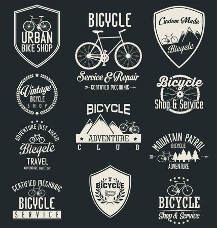 bicicleta vector: Vector insignias bicicleta y etiquetas
