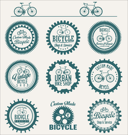 Vector bicycle badges and labels Illustration