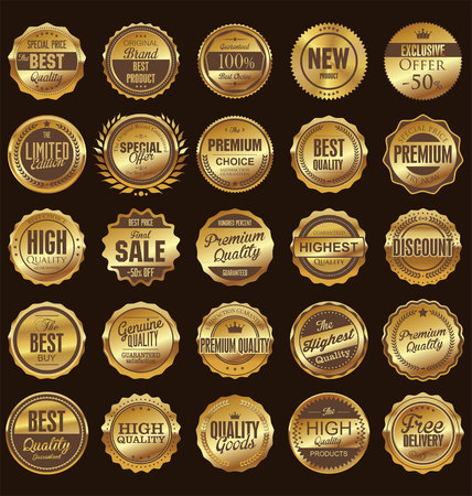quality seal: Retro badges and labels collection