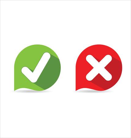 Modern Check Mark Icons Illustration