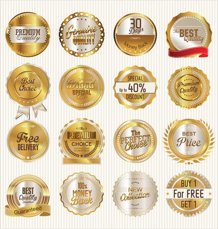 Goldene Etiketten-Sammlung Standard-Bild - 41307645