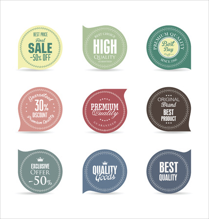 Modern badges collection Vector