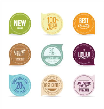 Modern badges collection Illustration