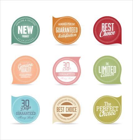 Modern badges collection 向量圖像