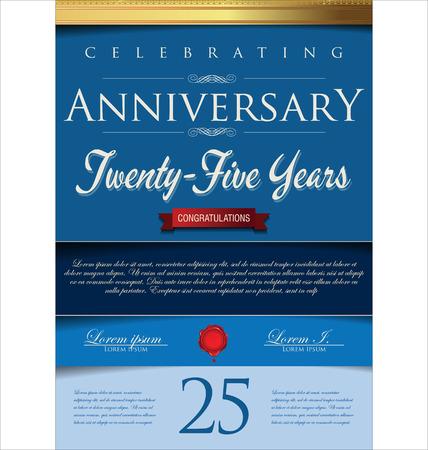 formal: Anniversary background Illustration