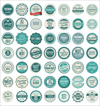 circulo de personas: De alta calidad retro insignias