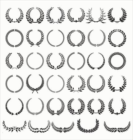 Laurel Wreaths Vector Collection Illustration