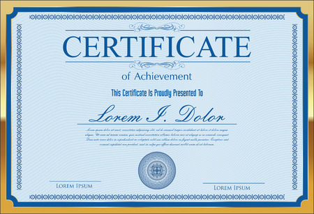 vignettes: Certificate, Diploma of completion