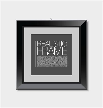 realistic: Realistic frame Illustration