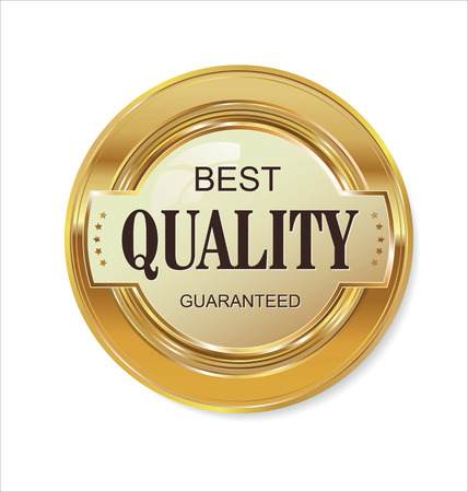 Quality golden badge Vectores