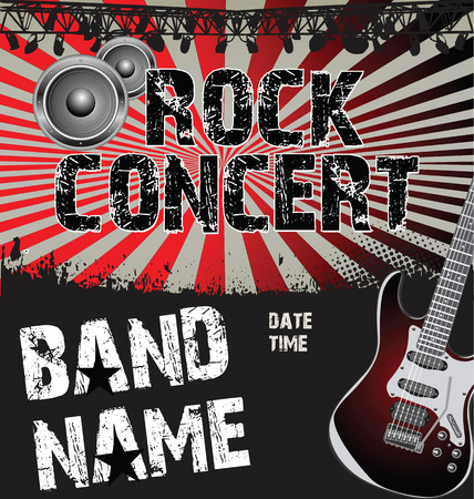 concert performance: rock concert poster