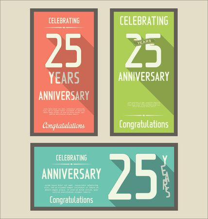 25: Anniversasry background, 25 years Illustration