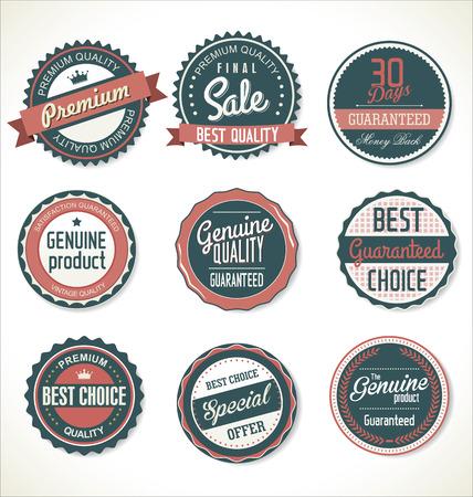Premium, quality retro vintage labels collection